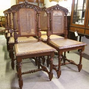 Set of 8 French Oak Dining Chairs