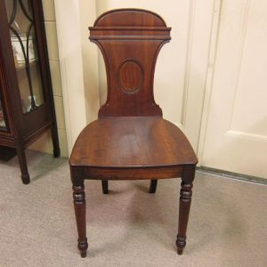 Georgian Walnut Hall Chair, c.1820
