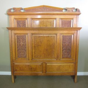 Late Victorian Grand Oak Double Bed
