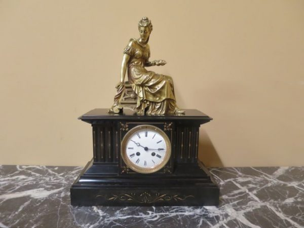 19th Century Figural Marble Clock