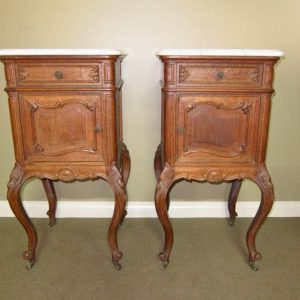 Pair of French Oak Bedside Cabinets