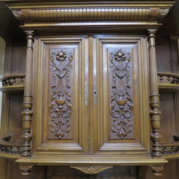 French Walnut Buffet Deux Corps