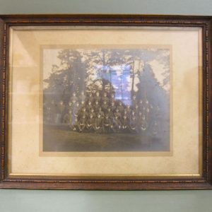 Group Military Photo in Oak Frame