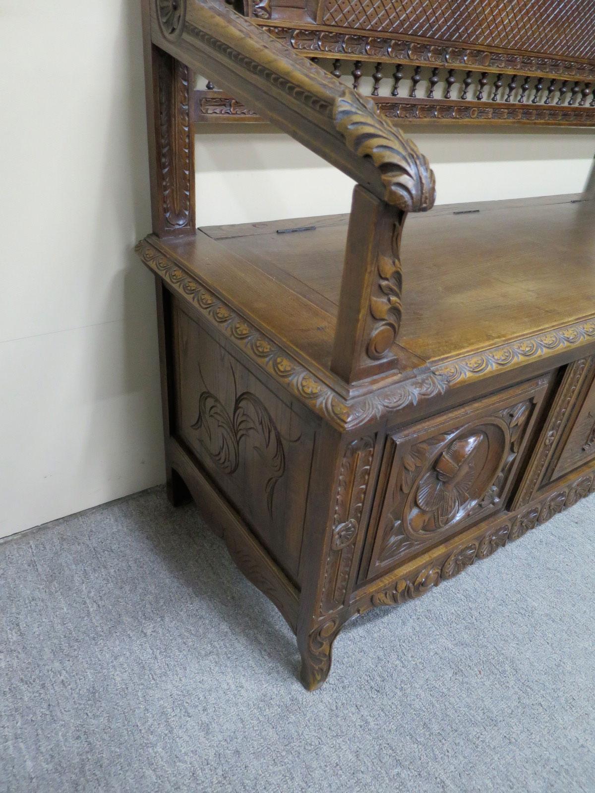 19th Century Oak Breton Settle