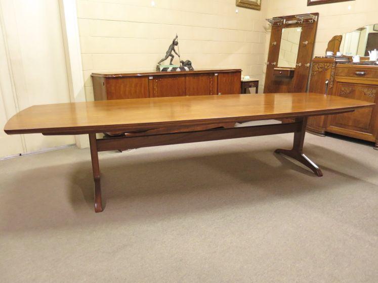 Mid-20th Century Teak Boardroom Table