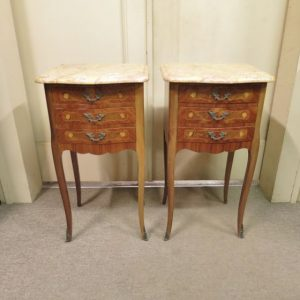 Pair of French Kingwood Bedside Tables
