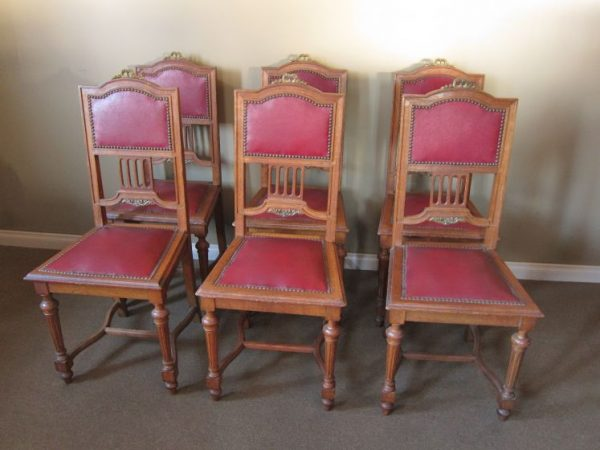 Set of 6 French High Back Dining Chairs