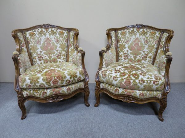 Pair of French Walnut Bergeres