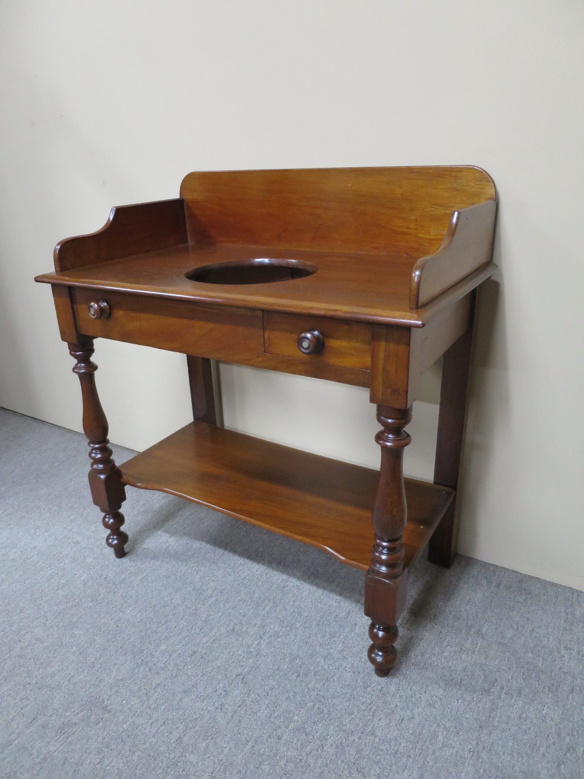 English Mahogany Washstand, c.1870
