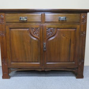 Art Nouveau Walnut Sideboard