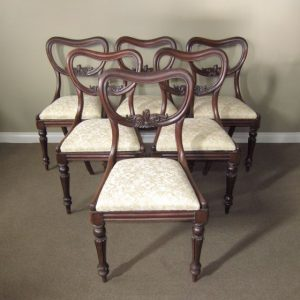 A Set of 6 Early Victorian Chairs