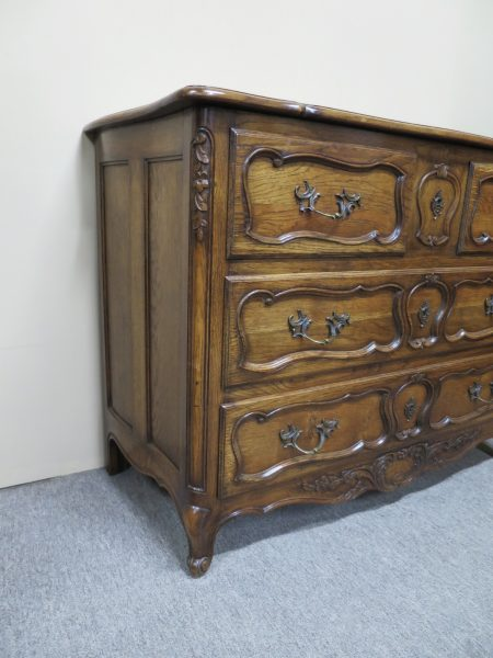 Oak French Carved Commode