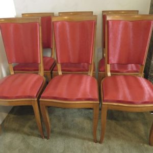 Set of 6 French Art Deco Chairs