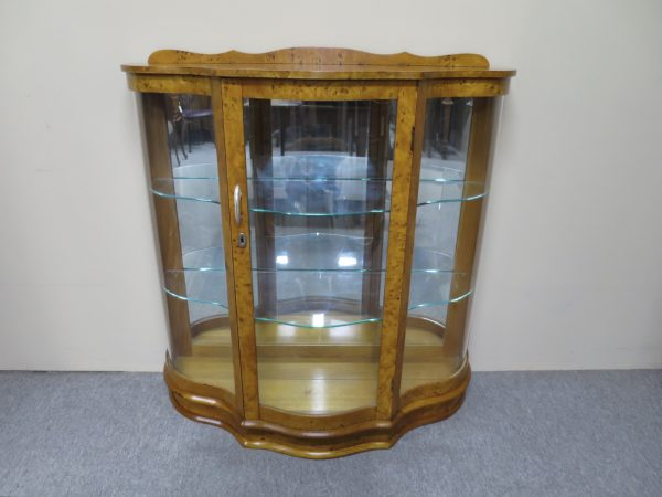 English Maple Display Cabinet