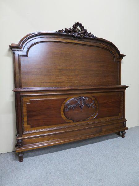 French Mahogany Louis XVI Style Bed