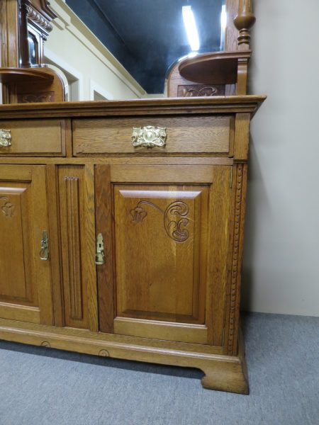 Art Nouveau Oak Sideboard