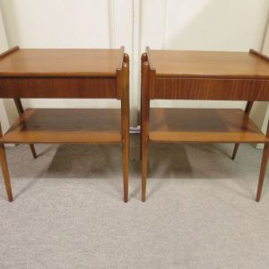 Pair of Scandinavian Teak Bedside Tables