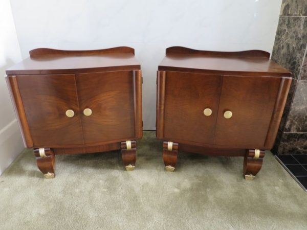 Pair French Bedside Cabinets, c.1940