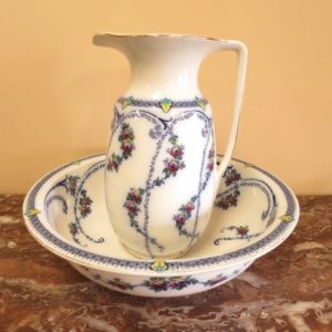 English Edwardian Jug & Basin