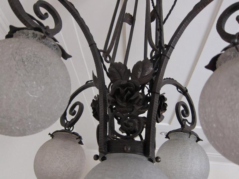 French wrought iron chandelier nostalgia antiques french wrought iron chandelier aloadofball Images