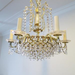 Hollywood Regency 6 Arm Chandelier