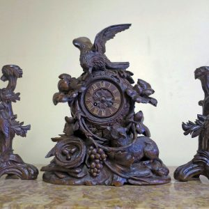 black forest clock Garniture