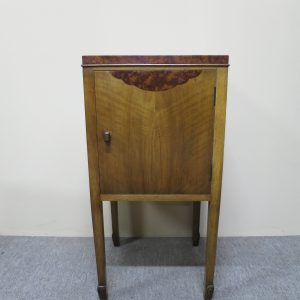 English Art Deco Bedside Cabinet