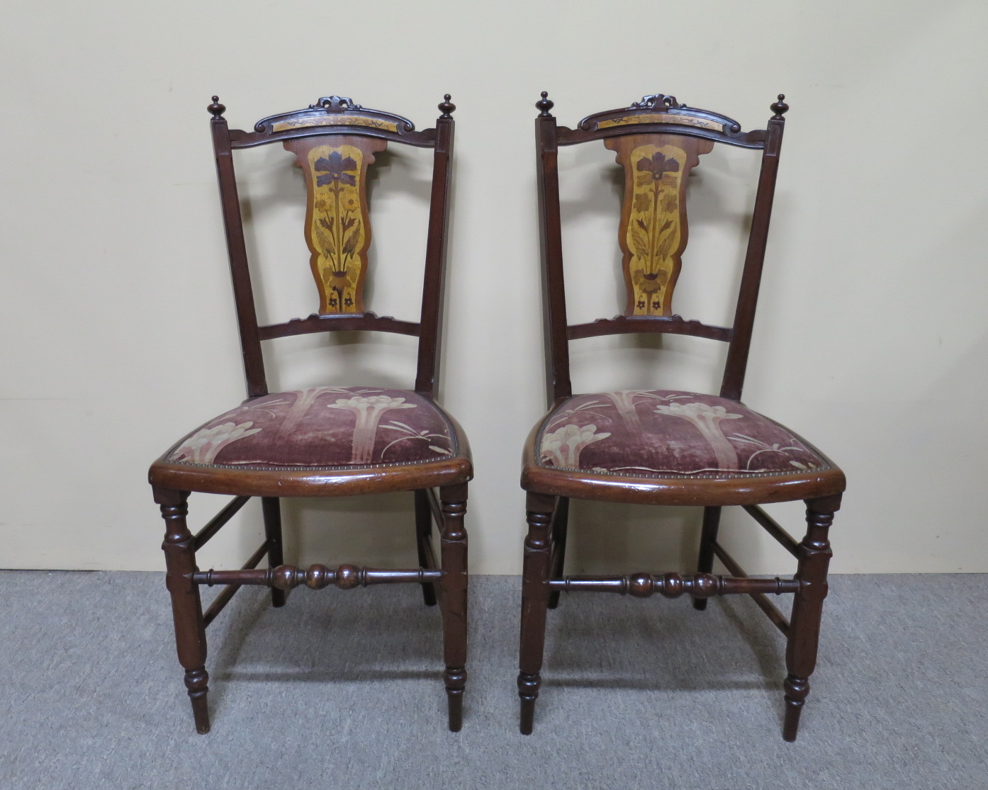 Pair Of Art Nouveau Occasional Chairs Nostalgia Antiques