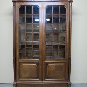 French Style Walnut Bookcase