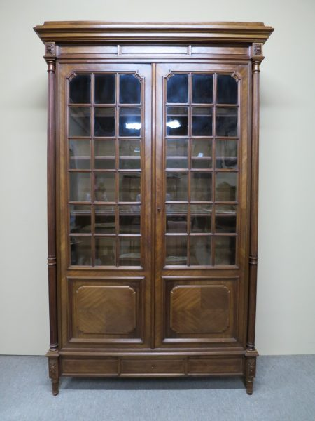 French Style Walnut Bookcase