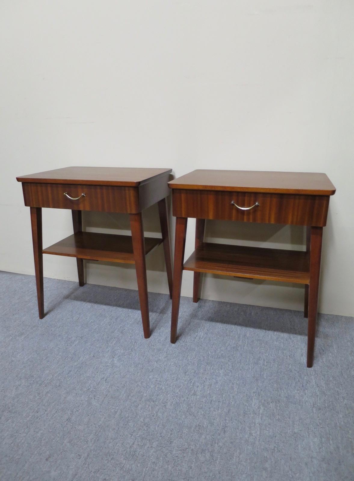 Picture of: Buy Online Pair Of Mid 20th Century Teak Bedside Tables Australian Antique Shop Nostalgia Antiques