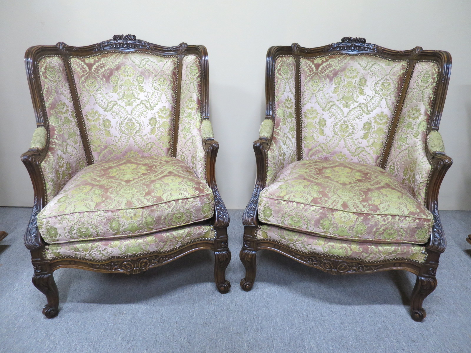pair of large french armchairs nostalgia antiques
