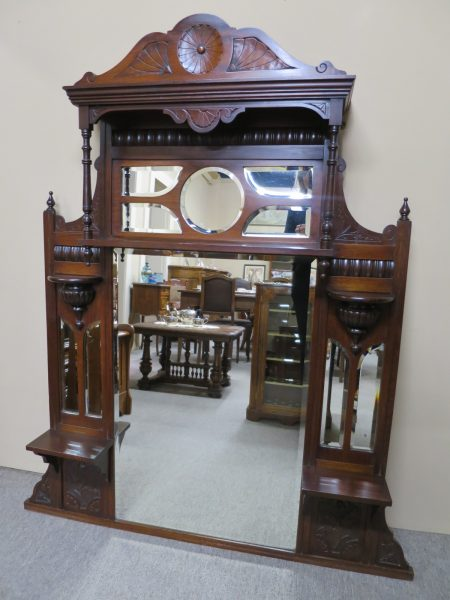 Edwardian Walnut Mirror