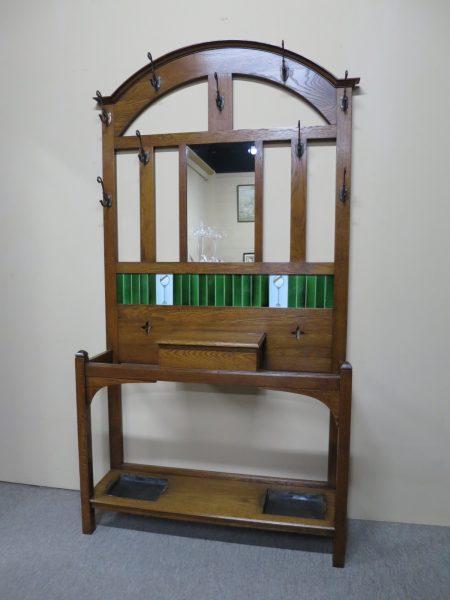 Art Nouveau Oak Hallstand