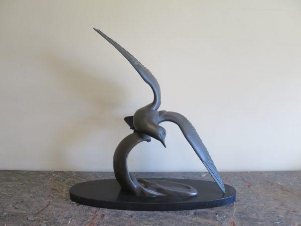 Art Deco Bronzed Seagull
