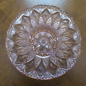 Large Pink Glass Bowl