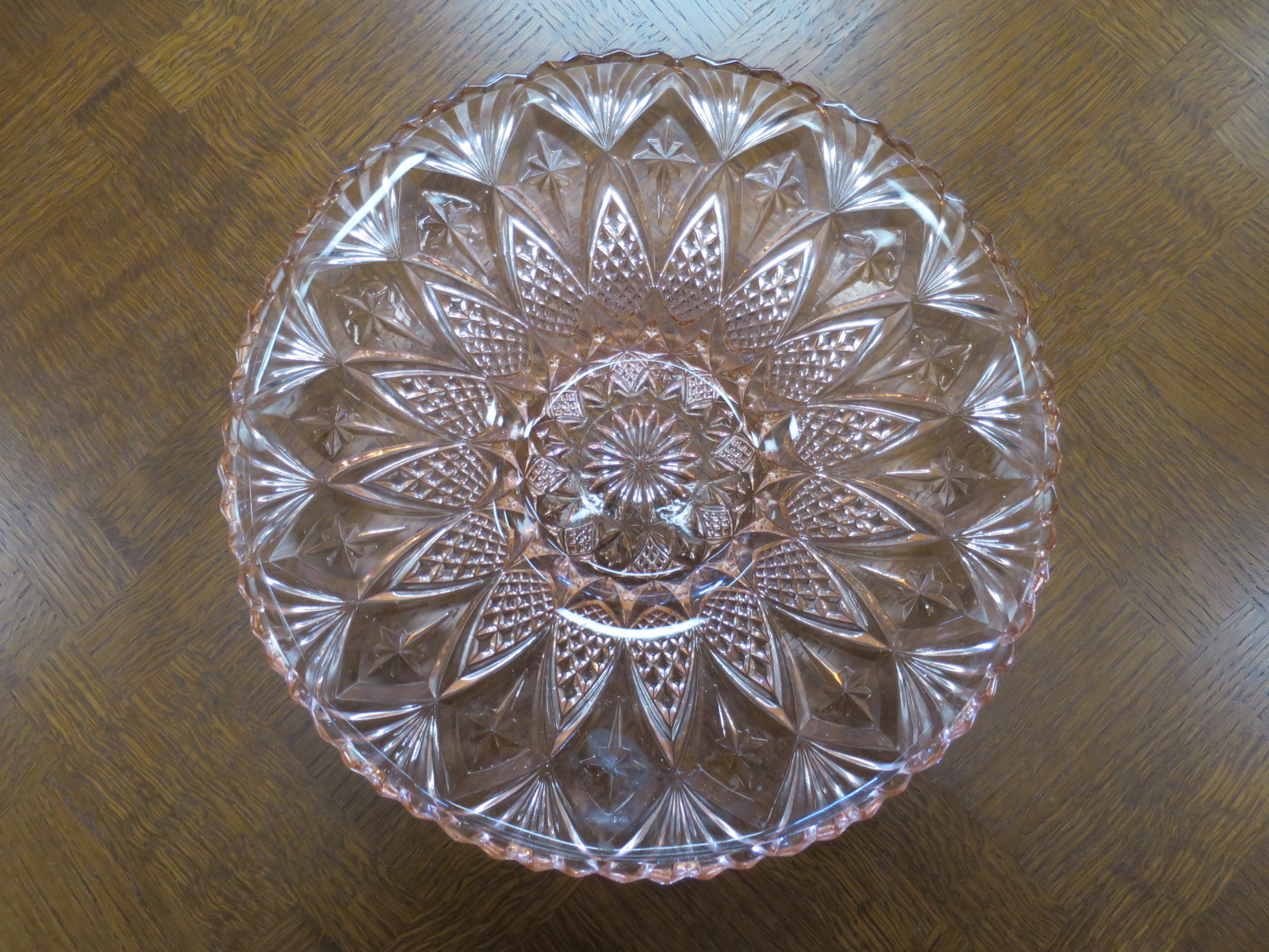 Large Pink Glass Bowl