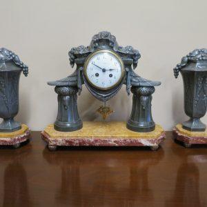 French Art Deco Clock Set