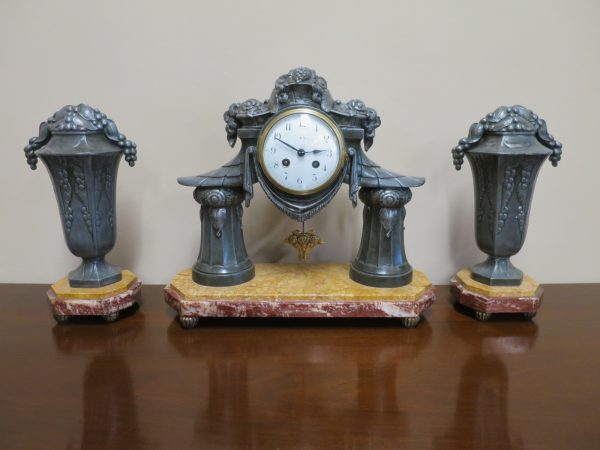 French Art Deco Clock Set