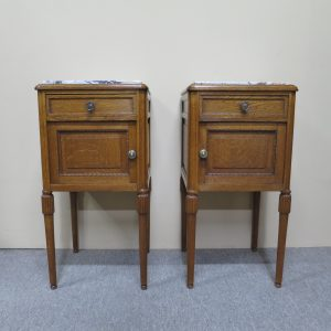 French Oak Bedside Cabinets
