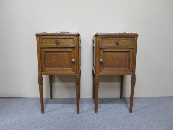 French Oak Bedside Cabinets