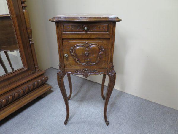 French Walnut Louis XV Style Bedside