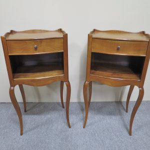 Vintage Cherry Wood Bedside Tables